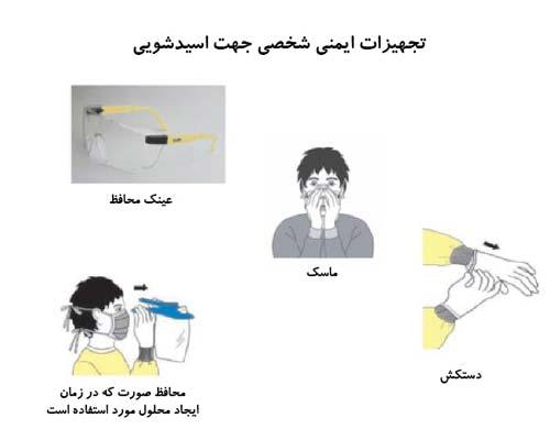 تجهیزات ایمنی هنگام اسیدشویی