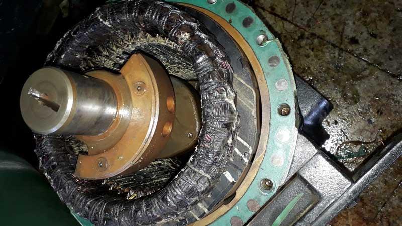 سوختگی الکتروموتور ناشی از حرارت