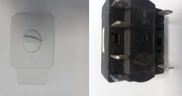 کلید سلکتور فن کویل برای تنظیم درجه هوای آن