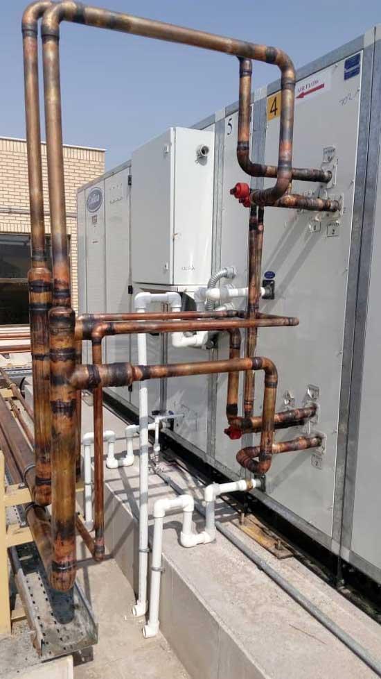 چگونگی اتصال دو کویل موازی به یکدیگر در لوله کشی سیستم تبرید