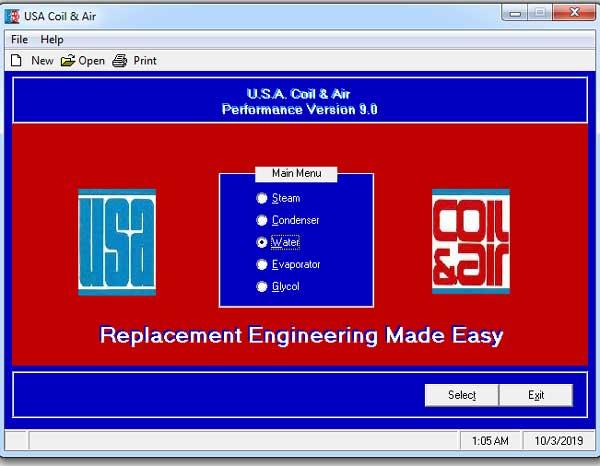 نرم افزار محاسبه و طراحی کویل هوساز