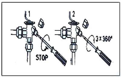 نحوه تنظیم شیر انبساط مکانیکی